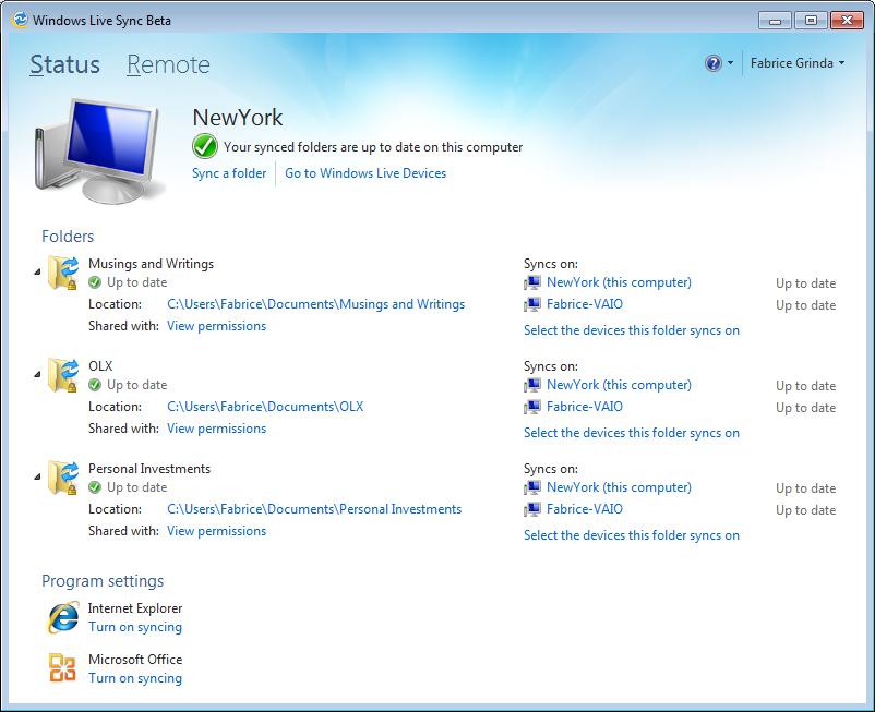 Windows Live Sync Beta is fantastic!
