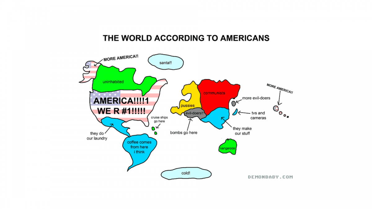 The World According to Americans :)