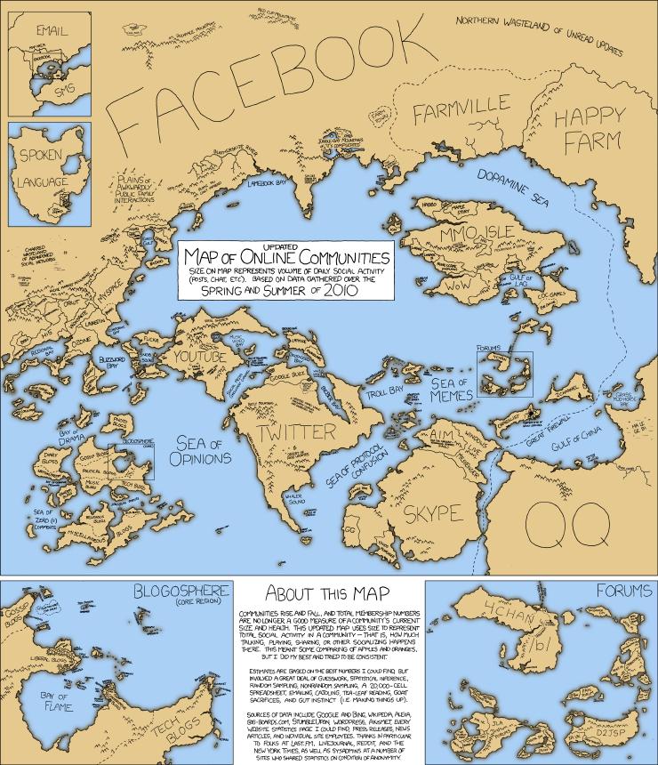 Internet landscape circa 2010