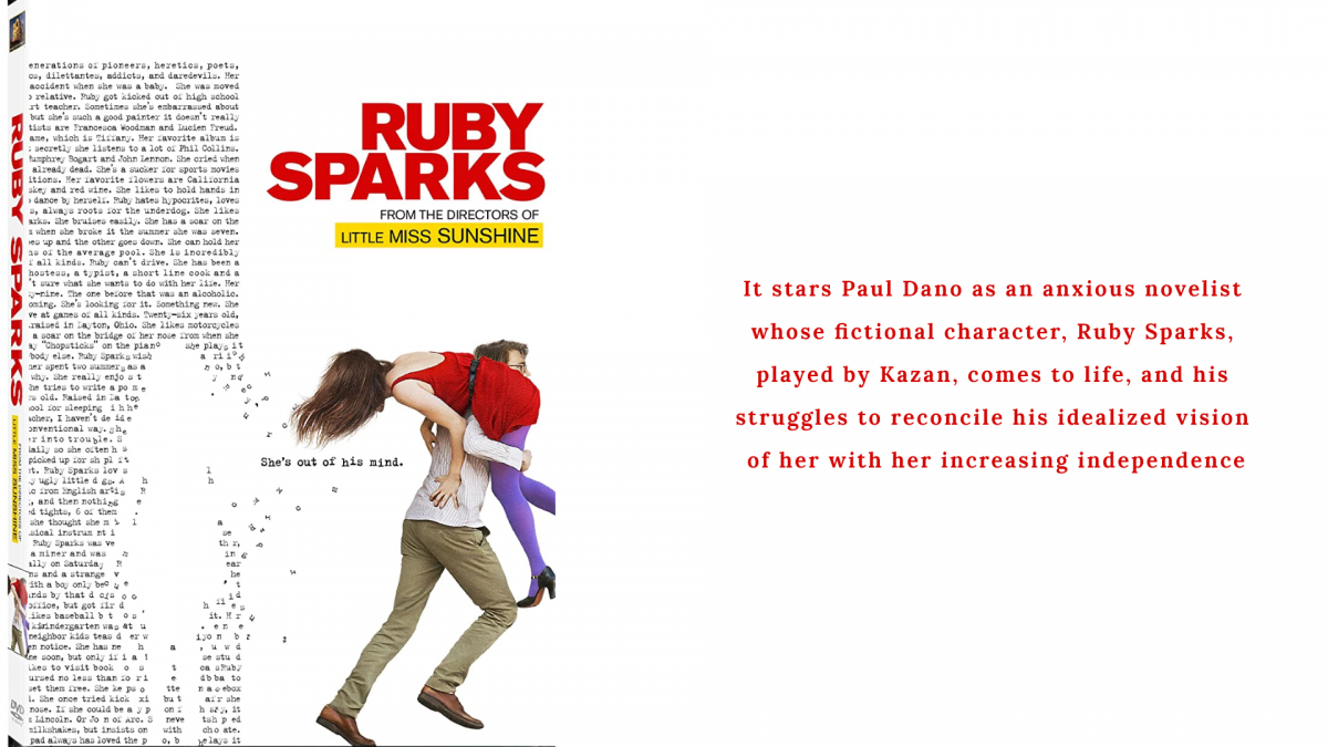 Ruby Sparks is thought provoking, beautiful, poignant and confronting