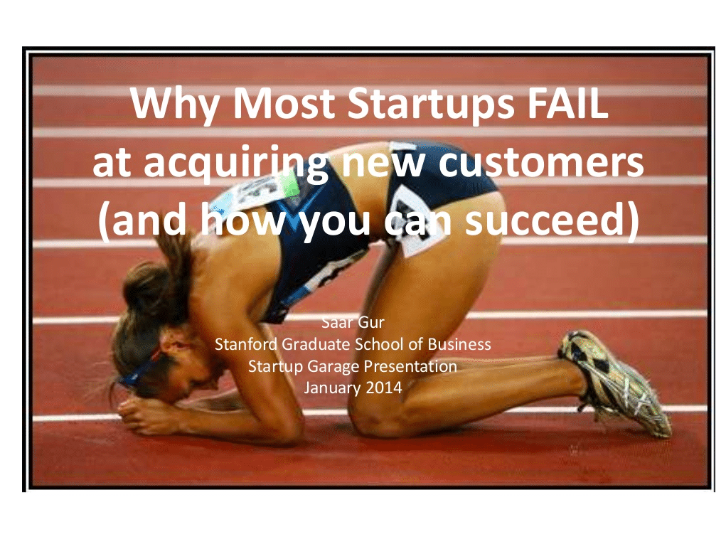 Fantastic presentation on customer acquisition