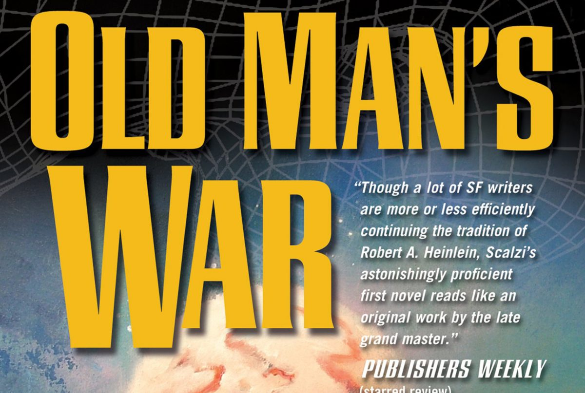 The Old Man's War Series by John Scalzi is a fantastic space opera